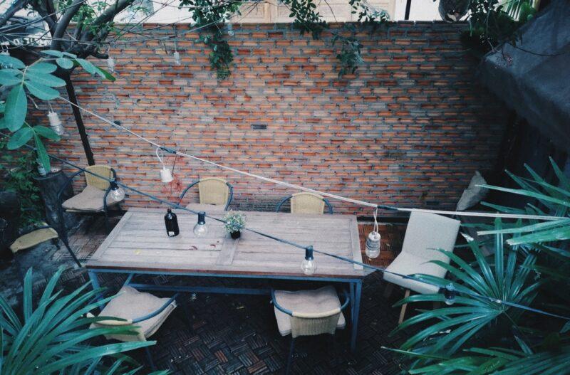 Salon de jardin bois et aluminium