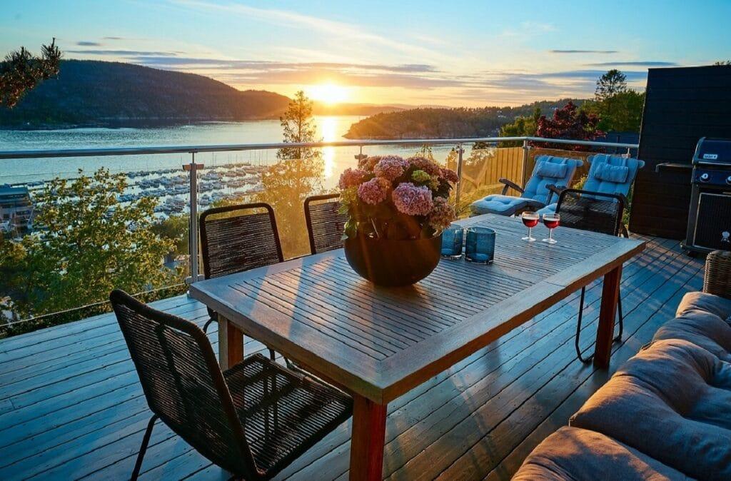Terrasse ambiance scandinave